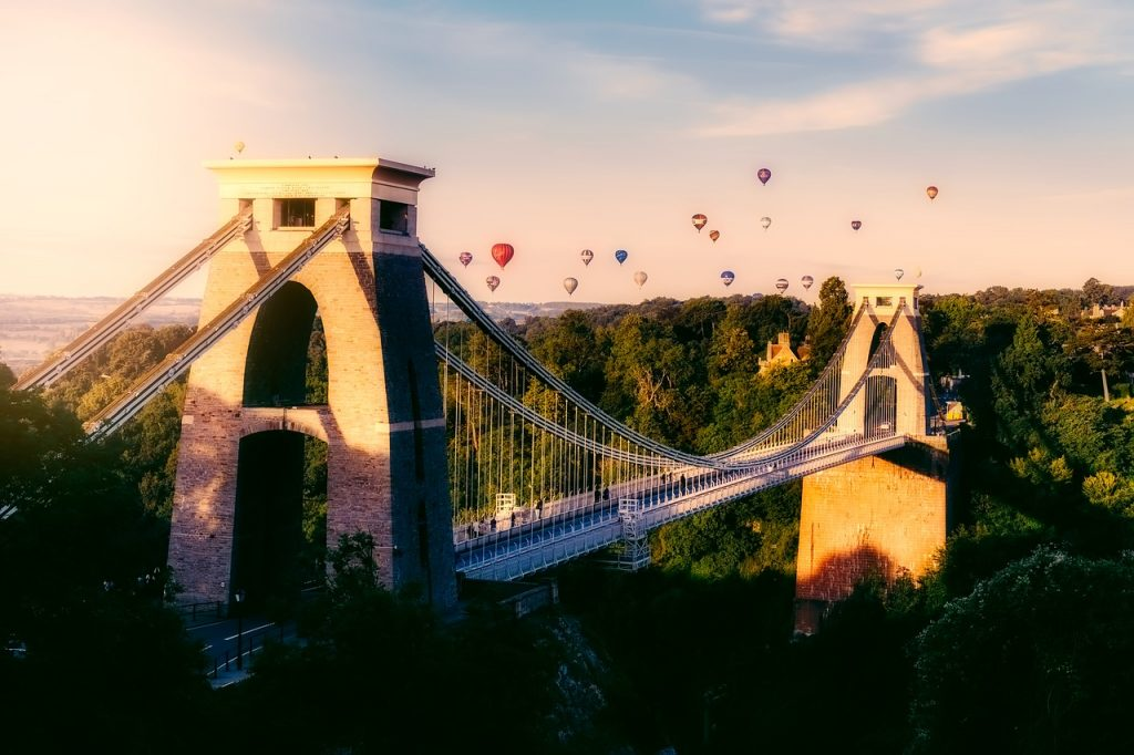 Hot air balloon festival to Bristol, England