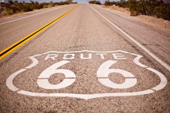 The famous route 66 to the USA.
