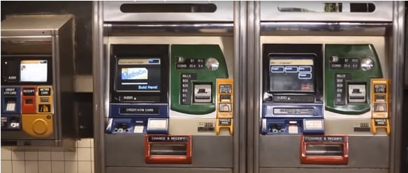 Ticket machines for metrocard