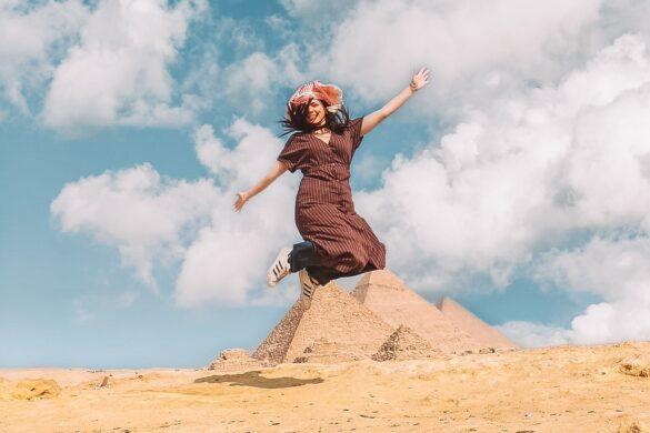 jump at pyramids area