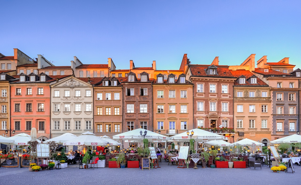 The old town of warsaw - Η παλιά πόλη της Βαρσοβίας στην Πολωνία