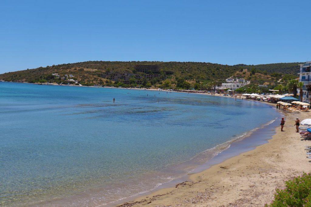 Agia marina beach in aegina