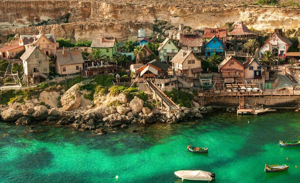 Το χωριό του Ποπάϋ στο νησί της Μάλτας
