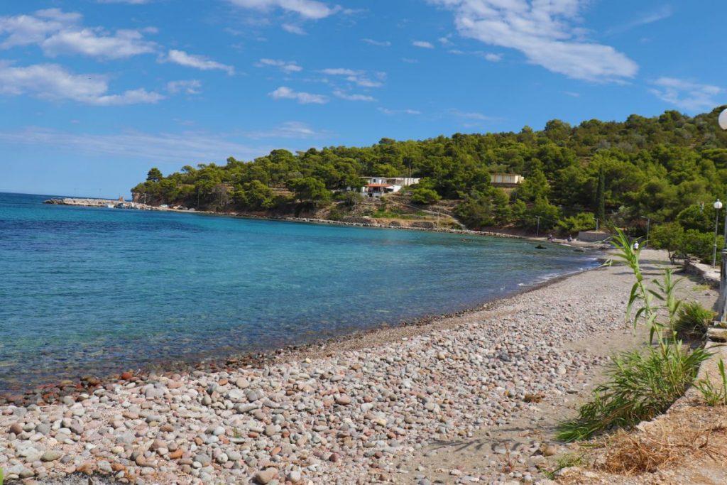 Portes beach in Aegina