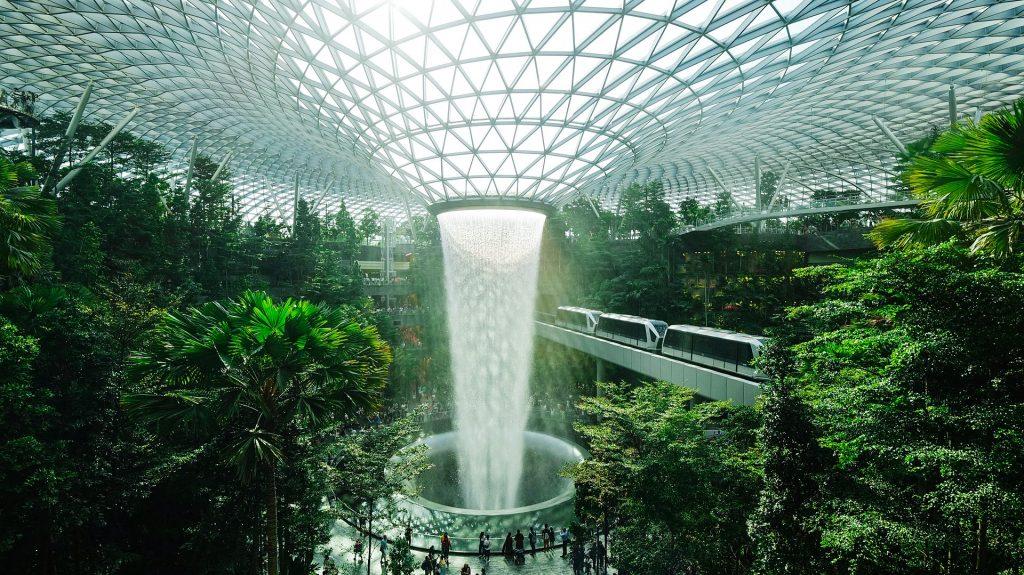 Changi airport at Singapore
