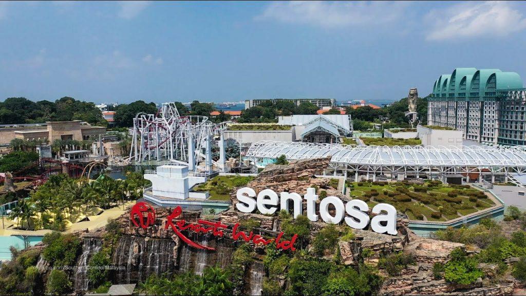 Sentosa area at Singapore
