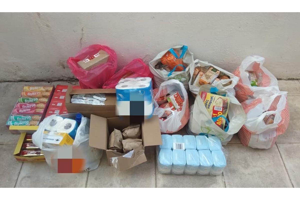 συλλογή τροφίμων για αστέγους