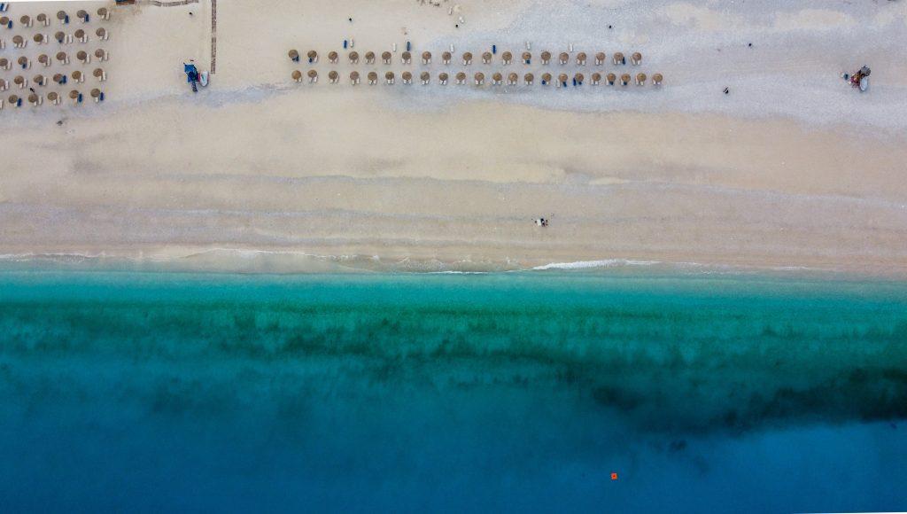 Mirtos beach at Kefalonia