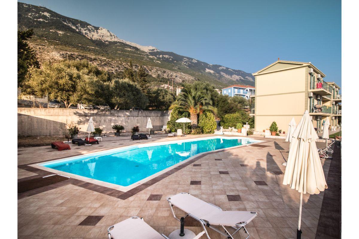 swimming pool at hotel in kefalonia