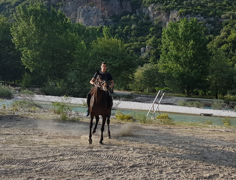 Horse riding by the rivers