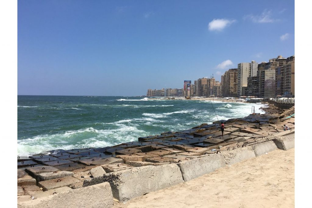 Sea road in Alexandria