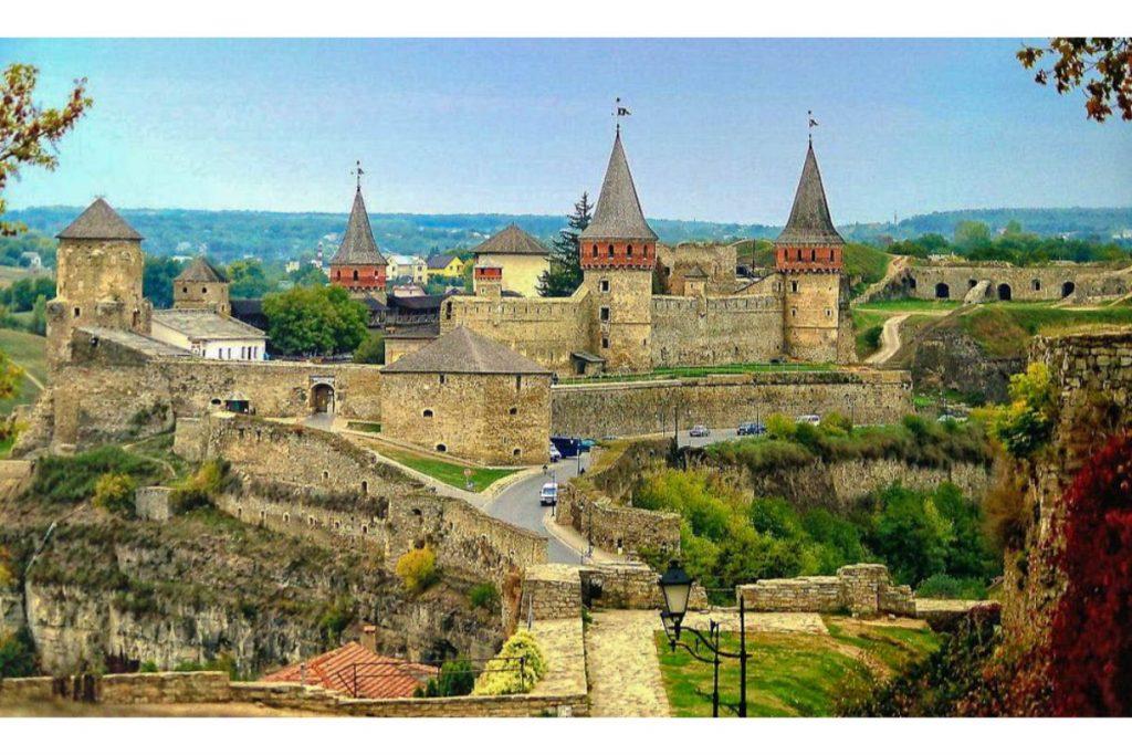 The castle Kamianets-Podilskyi