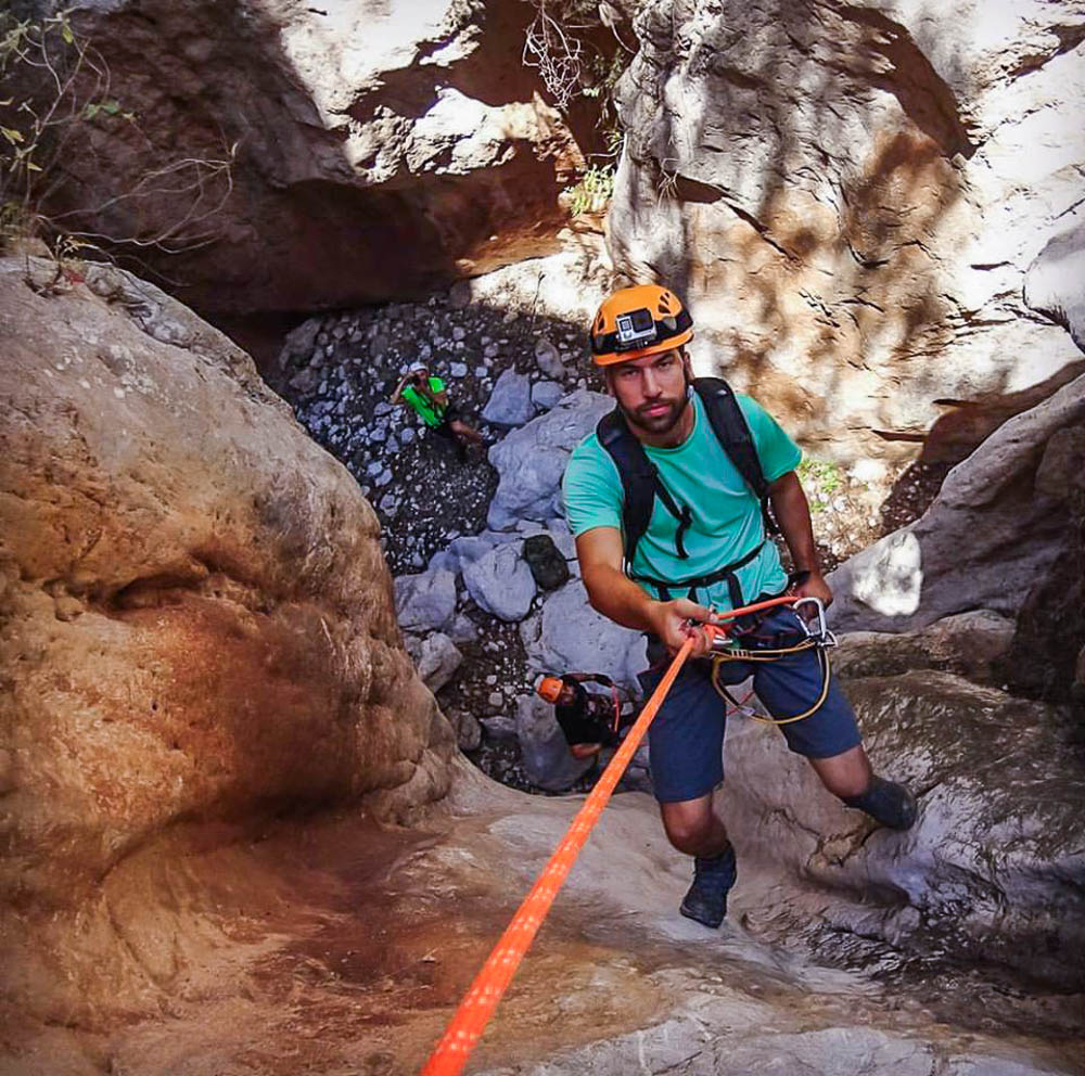 Mylon gorge descent