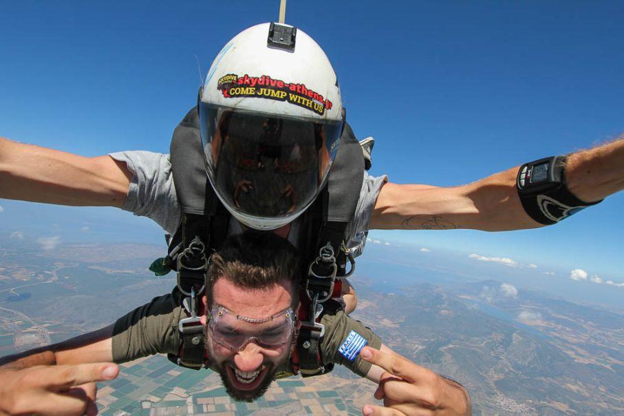 tandem free fall jump