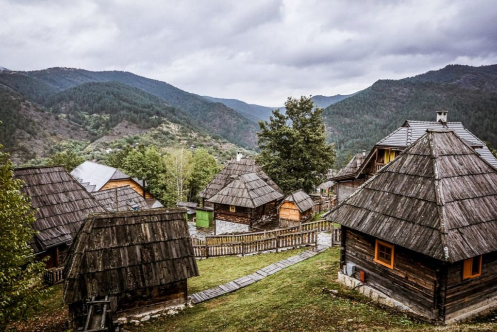 Drvengrad, the village with the wooden houses.