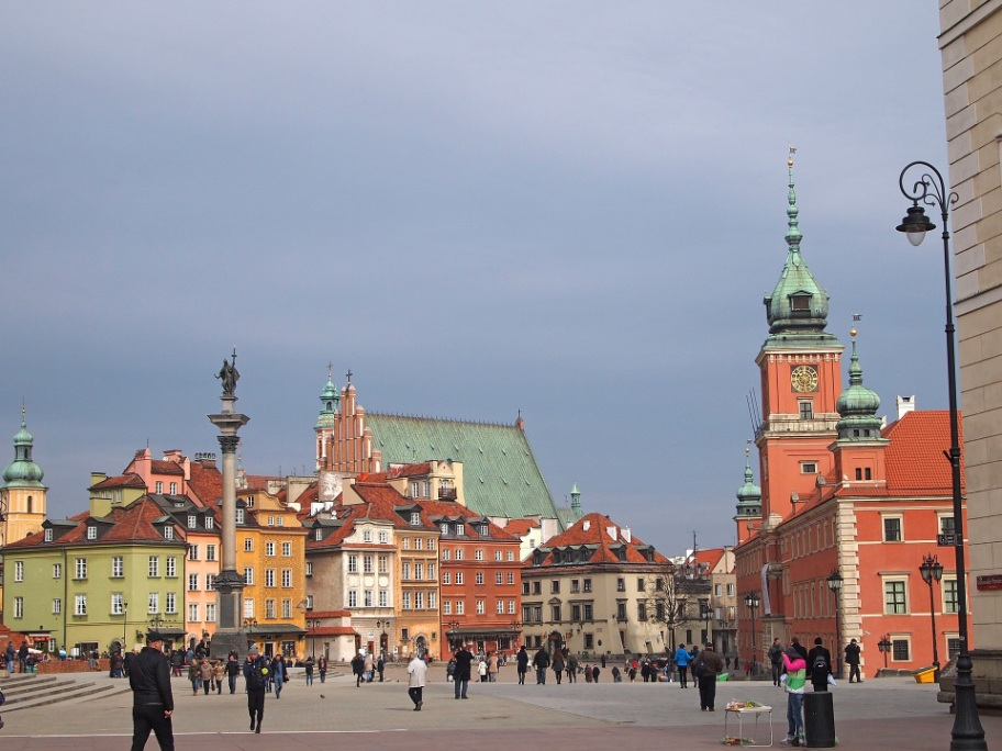 The colorful old town of Warsaw