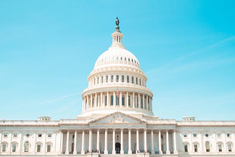 White tower to Washington DC of the USA
