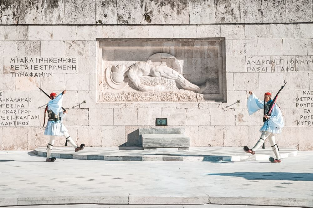 Monument to the Unknown Soldier-Evzones