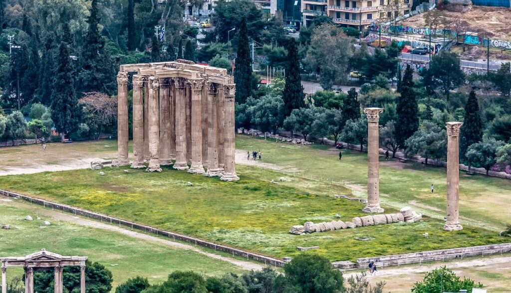 Olympian Zeus temple in Athens